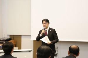 開会の挨拶 久留米大学病院病院長 志波直人