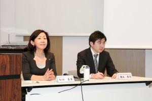 全体討論(左から松田美幸、櫻本恭司)